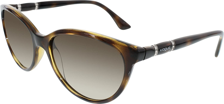 82202b5866 Amazon.com  Vogue Sunglasses VO2894SB W65613 Dark Havana Brown Gradient 55  17 140  Vogue  Shoes