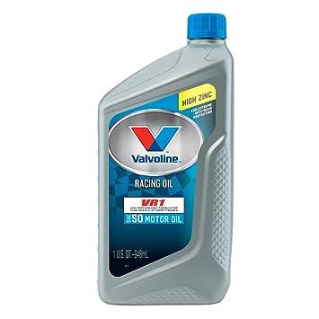 Valvoline SAE 50 VR1 De carreras de aceite de motor - 1QT (funda de 6) (822350 - 6PK): Amazon.es: Coche y moto