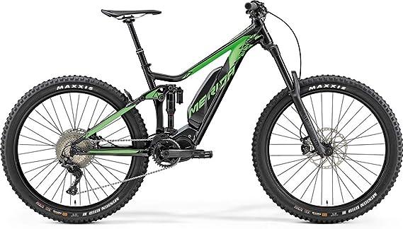 Bicicleta eléctrica de montaña Merida eONE Sixty 900, 500 Wh, color negro/verde sedoso, 2019, altura del cuadro de 47 cm: Amazon.es: Deportes y aire libre