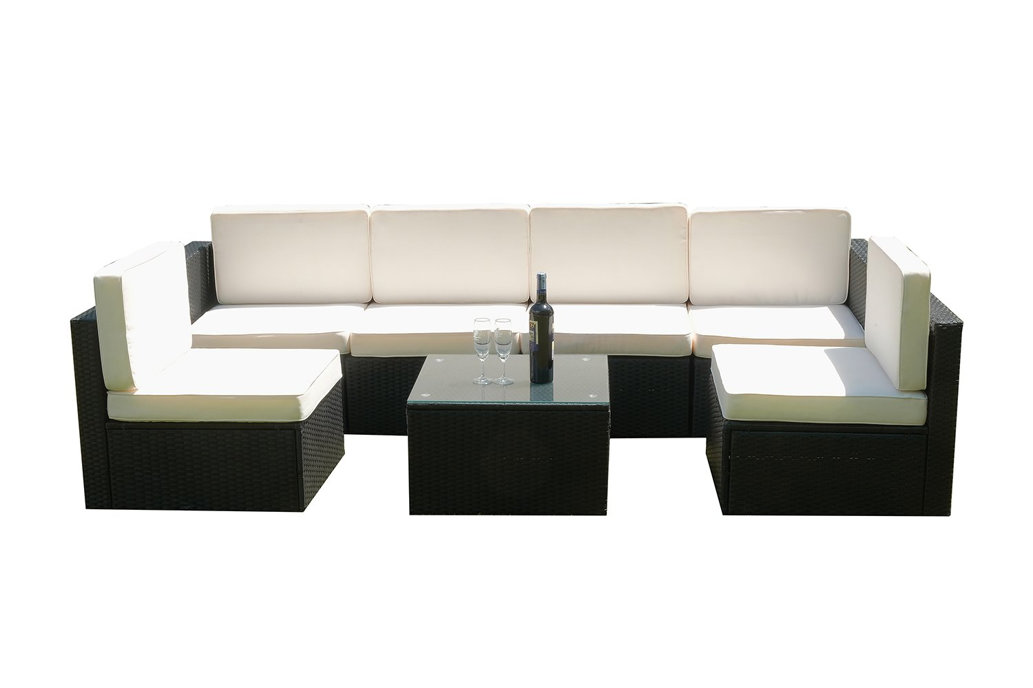 mcombo 7tlg poly rattan gartenm bel sitzgarnitur sitzgruppe sofa g nstig bestellen. Black Bedroom Furniture Sets. Home Design Ideas
