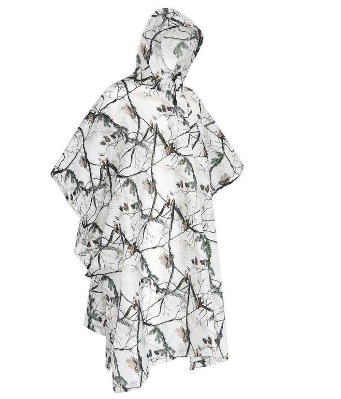 Cmboom Poncho Impermeabile Multifunzionale Riutilizzabile Raincoat Camuffamento Impermeabile Poncho Stuoia Campeggio Parasole Ideale per Outdoor Campeggio Trekking Pesca