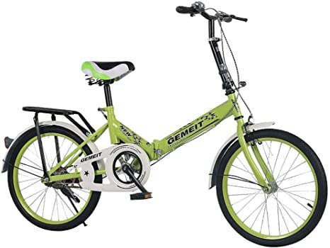 Wangwang454 Folding Bike 20 Inch Folding Bike Folding Bike Folded Folding Bike Made of Carbon Steel Light and Robust (Blue)-Green: Amazon.es: Deportes y aire libre