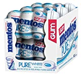 Mentos Pure White Sugar-Free Chewing Gum with Xylitol, Sweet Mint, 50 Piece Bottle (Pack of 6)