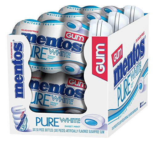 mentos-gum-sugar-free-pure-white-sweet-mint-50-piece-pack-of-6