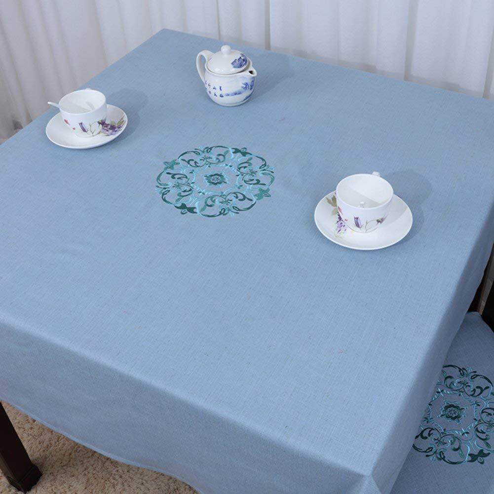 Shuangdeng 田舎のテーブルクロスファブリックTableclothTeaテーブルクロスデスクデスククロス (Color : A, サイズ : 130x180cm(51x71inch))   B07S87MPH4
