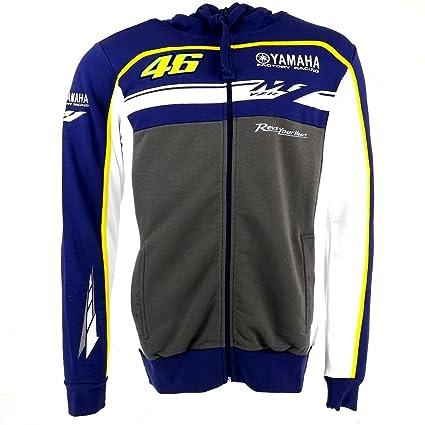 Valentino Rossi M1 Yamaha Carrera MotoGP Sudadera con Capucha Polar Oficial de Equipo Nuevo