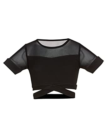 8865cd8668ed8c Amazon.com  Soffe Big Girls Slay Mesh Dance Crop  Clothing