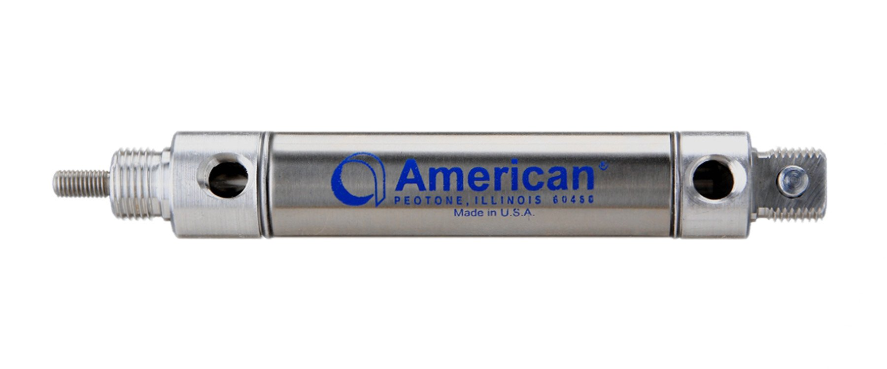 American Cylinder 1250DVS-0.50 1-1/4'' Bore x 1/2'' Stroke Double Acting Pneumatic Cylinder, Universal (Pivot) Mount