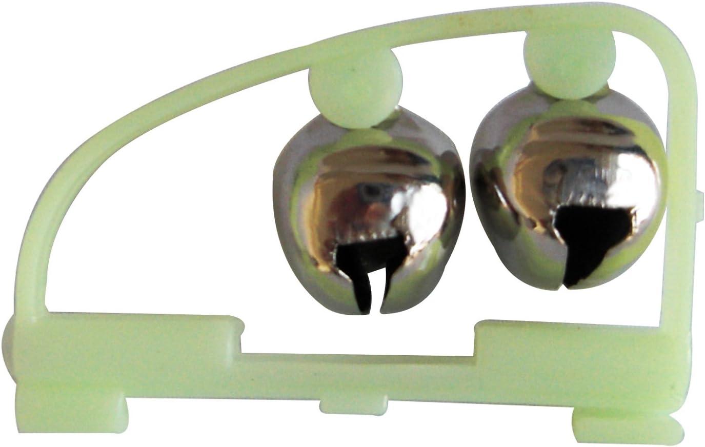 Angelrutenglocken Licht Angelclip Bissalarm mit Zwei Alarmglocken Yosoo Angel Glocke Bissanzeiger LED Angel Glocken 10 St/ück Aalglocken Mit Knicklicht Knicklichter