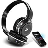 Premium Wireless Bluetooth Headphones, SD Wireless Card Reader, Dual Listening Mode - Listen w/a Friend, MP3, Built-in Mic for Call Answering, FM Radio, Portable Folding Design, from Pyle (PHPMP39)