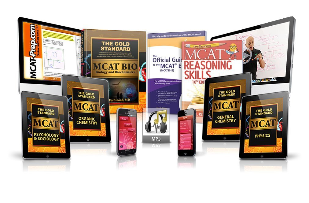Gold Standard MCAT Complete Review With 5 Full Length Tests