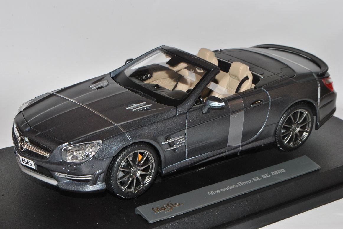 Mercedes-Benz SL65 AMG SL Cabrio Matt Grau Schwarz R231 Ab 2012 1/18 Maisto Modell Auto