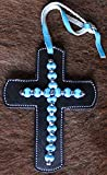 """Product review for 4"""" Western Riding Barrel Horse Saddle Leather Cross Tie 9661"""
