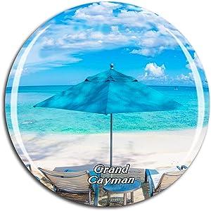 Weekino Seven Mile Beach Grand Cayman UK Fridge Magnet 3D Crystal Glass Tourist City Travel Souvenir Collection Gift Strong Refrigerator Sticker