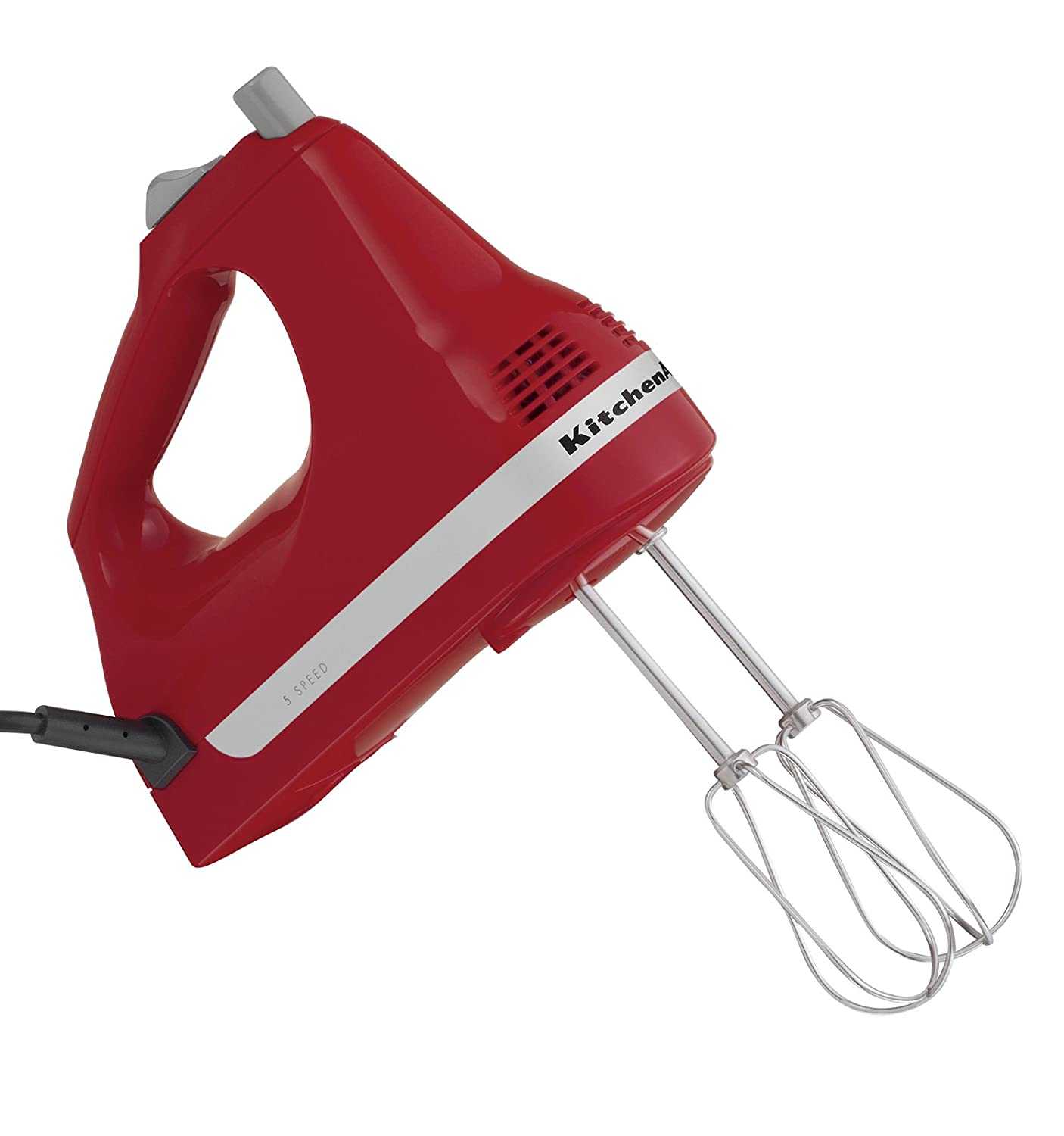 Factory Reconditioned KitchenAid RRKHM5ER 5-Speed Ultra Power Hand Mixer, Empire Red