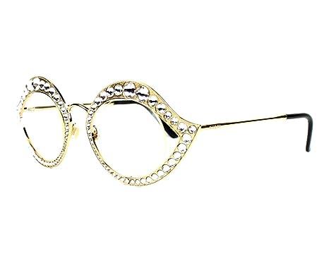 49d3a7c32eef Amazon.com  Optical frame Gucci Metal Gold (GG 4287 J5G)  Clothing