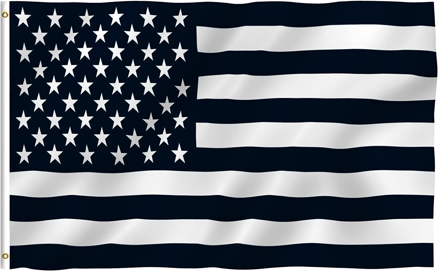 3'x5' Feet Black and White American Protest Flag Polyester