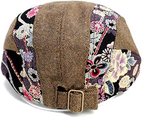 ハンチング 和柄 ウール素材 CAP 帽子