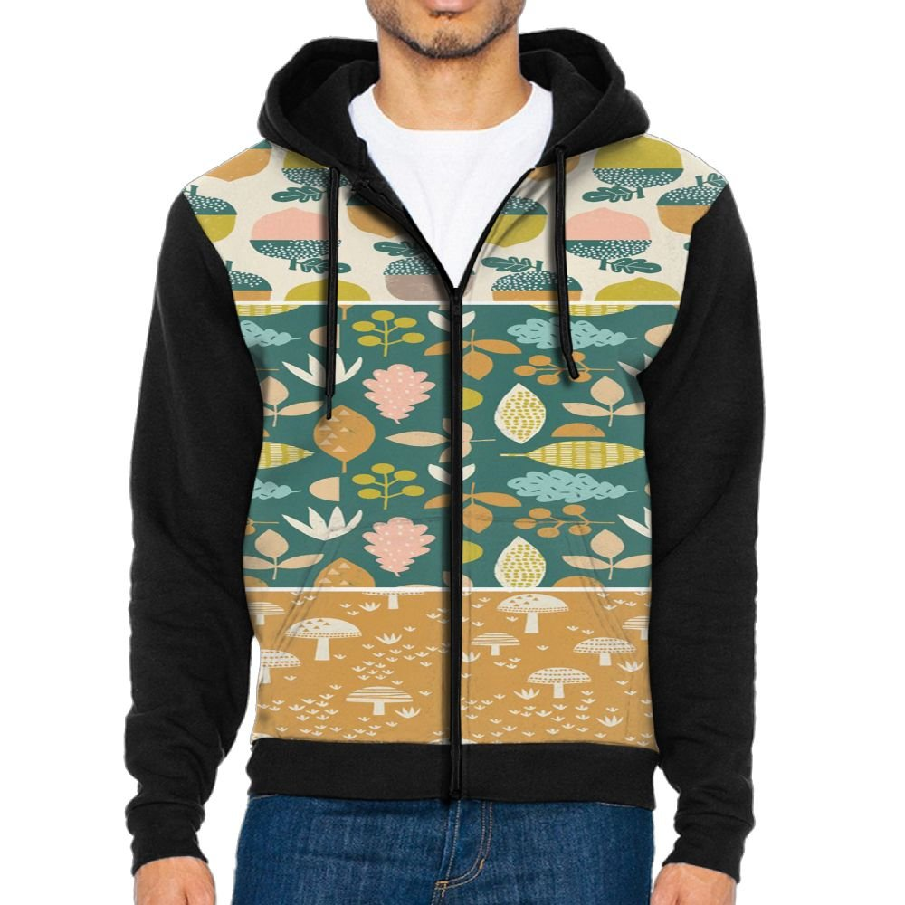 Fengyaojianzhu Cactus Funny Men Black Sports Long Sleeve Hoodies Sweatshirts With Pocket