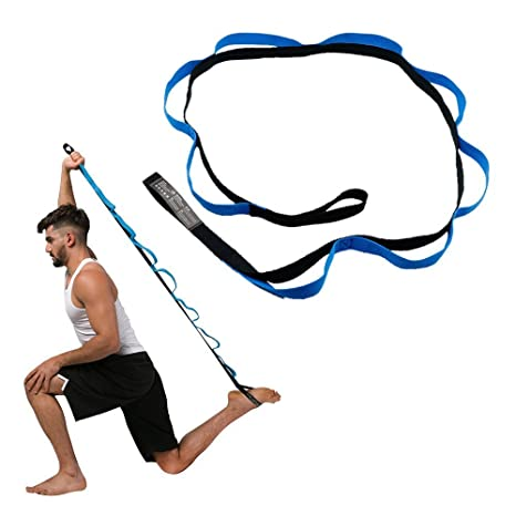 TAKSON Stretching Strap with Loops- Leg Stretch Band to ...