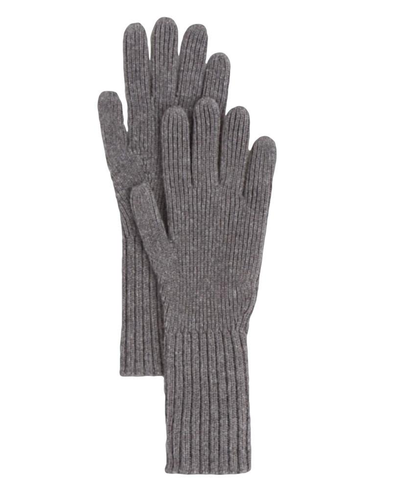 Burberry London Men's Gray Cashmere Rib Knit Gloves