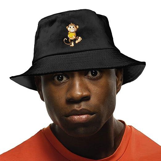 aae006d72 Monkey with Banana Bucket Hat Summer Fisherman Cap Foldable Sun ...