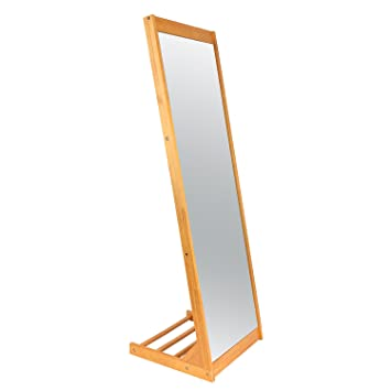 Amazon.com: LCH Modern Pine Wood Frame Floor Dressing Mirror, Large ...
