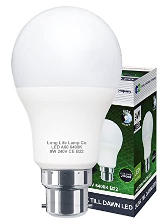 Bombilla LED de 9 W de alto brillo con sensor de polvo a amanecer, B22