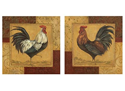 Stampe Per Cucina Country : Wallsthatspeak french farm country roosters arte stampe di pollo