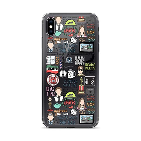 cheap for discount d7bd4 f52e1 Amazon.com: The Office Mashup Quotes Phone Case iPhone 6 7 8 Plus XS ...