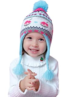 3cfeb312cc9 Home Prefer Kids Baby Toddler Girls Winter Hat Warm Knit Beanie Earflap Hat