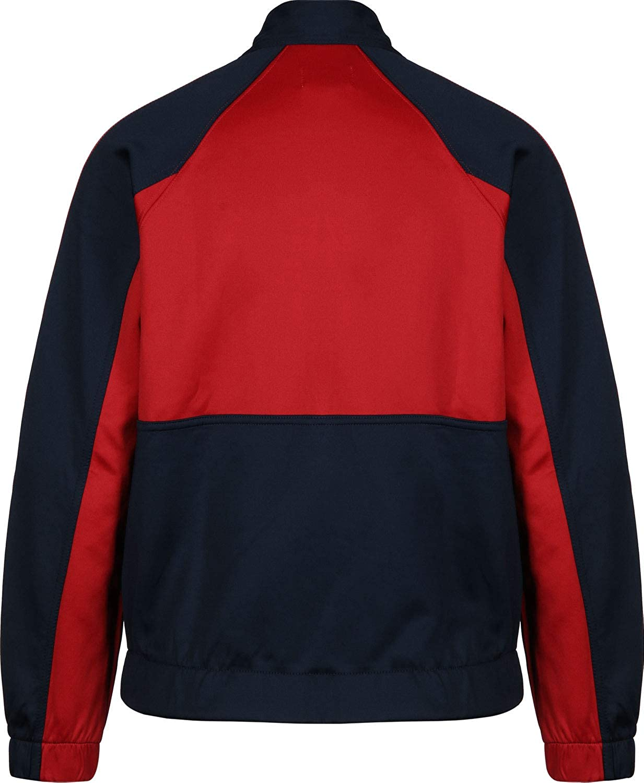 Felpa Tommy Jeans DW0DW05699 Donna Blu Rosso Giacca Zip Acetato Vintage Retr/ò
