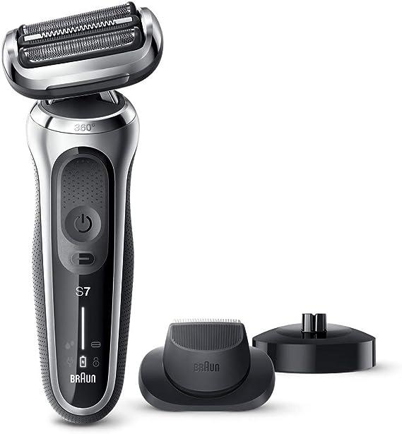 Braun 9297 Series 9 - Afeitadora Eléctrica, Máquina de Afeitar Barba en Seco y Mojado, Recortadora de Precisión Integrada, Recargable, color Cromo: Amazon.es: Salud y cuidado personal