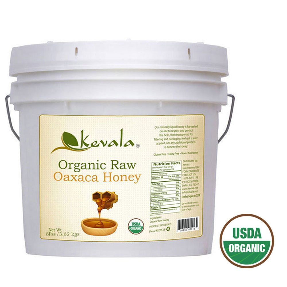 Kevala Organic Raw Oaxaca Honey 8 Lbs Pail