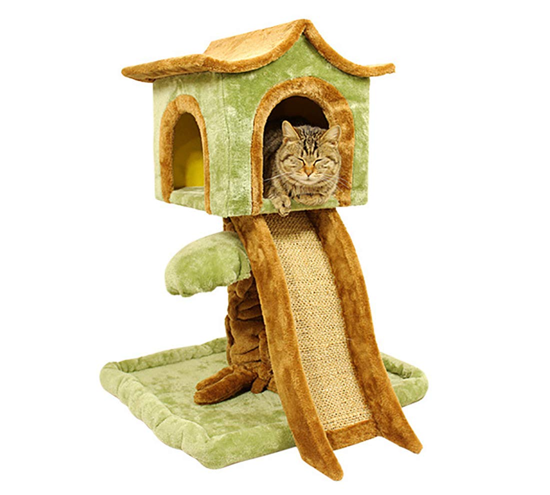 Large cat Climbing Frame Sisal Blanket Cute cat Litter Cat Jumping Platform Cat Toy European American Style 53  47  75 cm