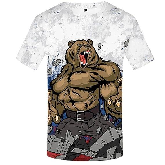 Camiseta Rusa de la Camiseta Impresa 3D de la Camiseta de la Camiseta de los Hombres de la Manera Top: Amazon.es: Ropa y accesorios