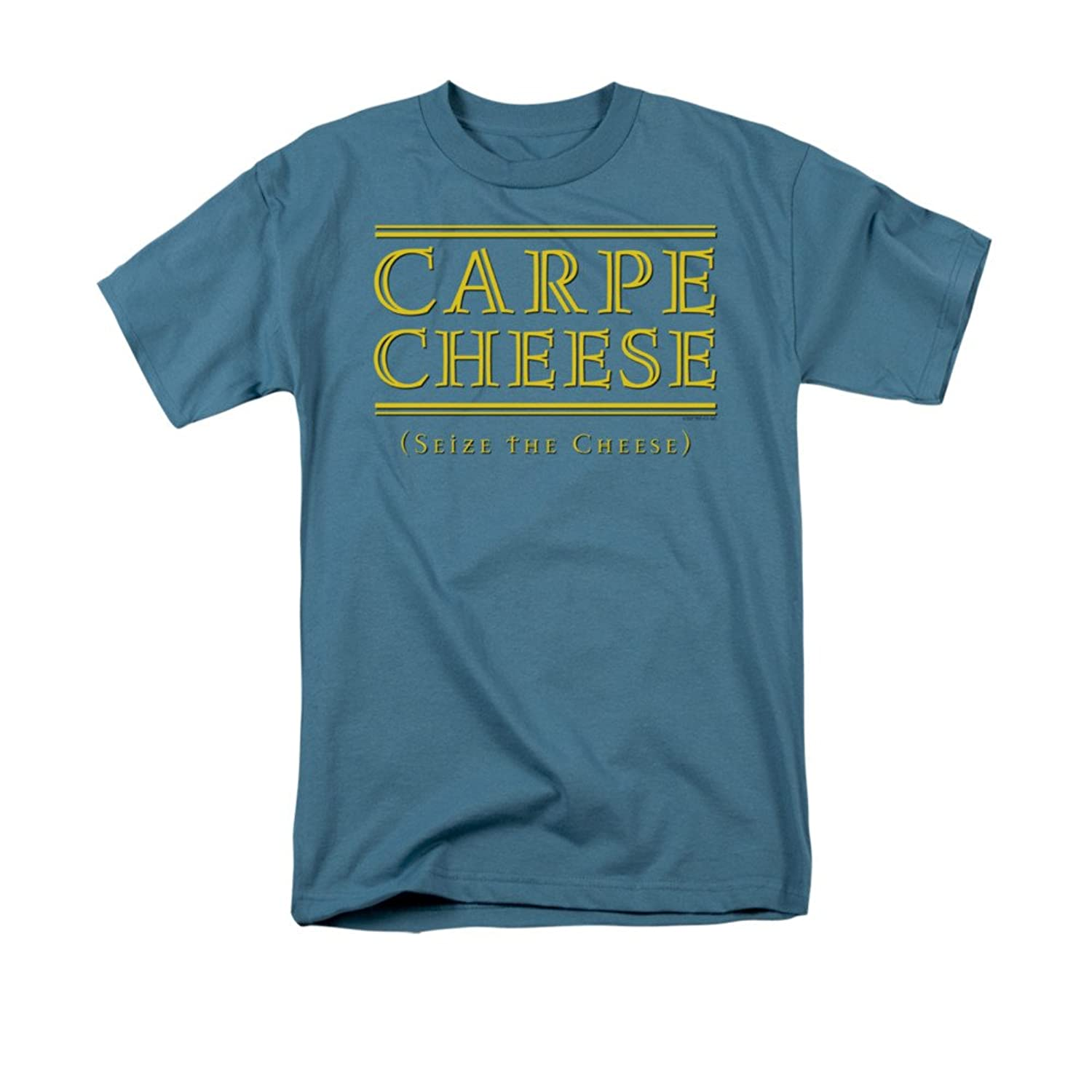 Carpe Cheese Seize The Cheese Funny Saying Adult T-Shirt