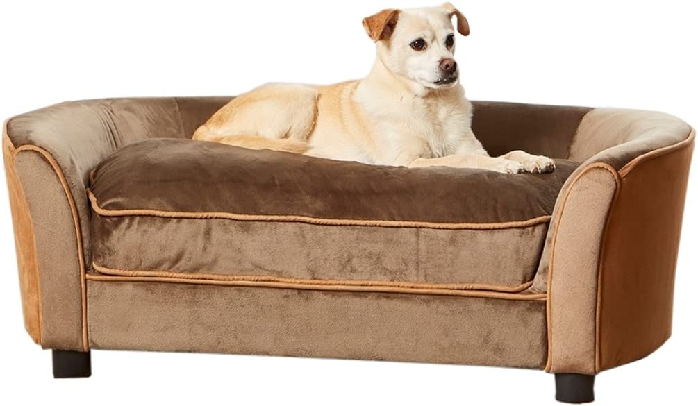 Enchanted Home Pet Ultra Plush Panache Pet Sofa in Mink Brown