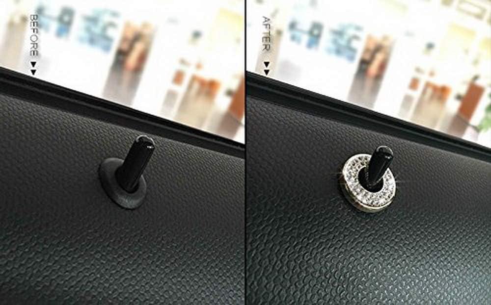 Bling Crystal Decor Alloy Door Lock Knob Ring Covers For MINI Cooper R55 R56 R57 R58 R59 R60 2 iJDMTOY etc
