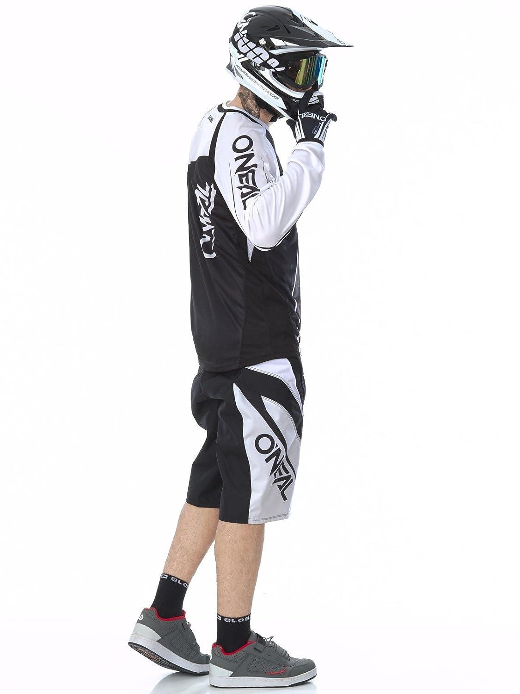 1078-1 ONeal Element FR Shorts Blocker Schwarz Wei/ß Hose MTB DH AM MX Enduro Offroad
