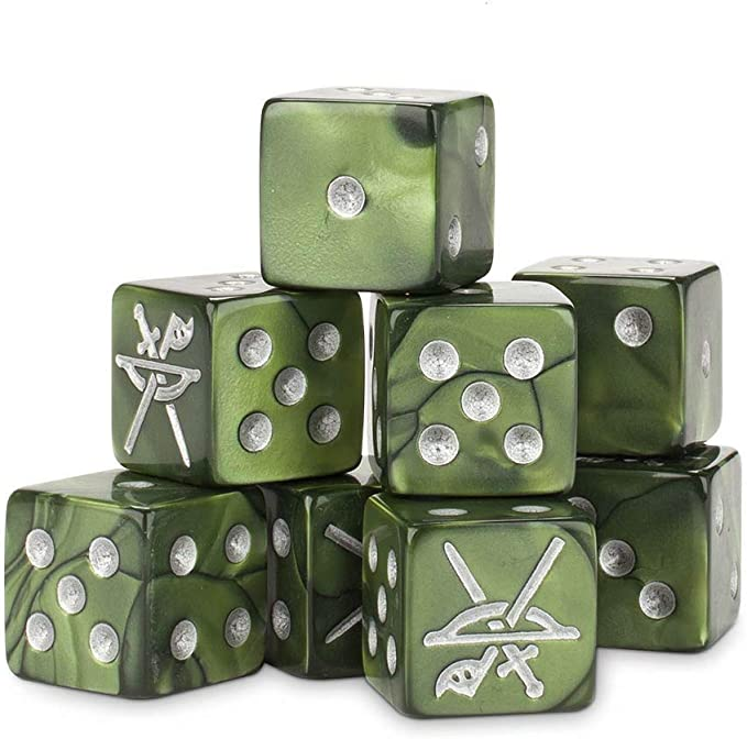 New//Boxed Three Hunters Dice Set The Lord Who Rings//Middle-Earth Tabletop