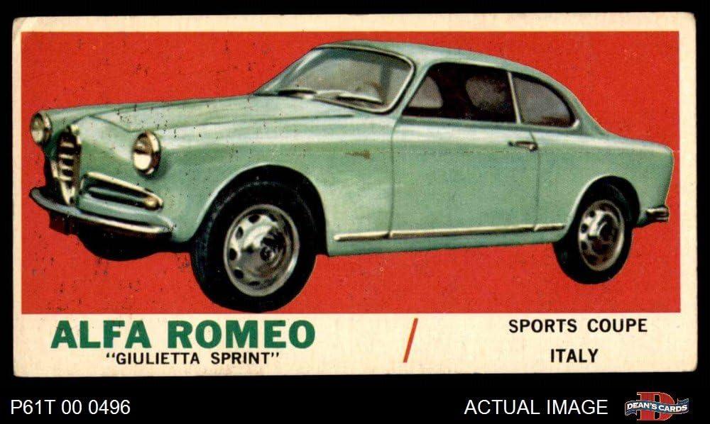 1961 Topps # 47 Alfa Romeo Giulietta Sprint (Card) Dean's Cards 3 - VG