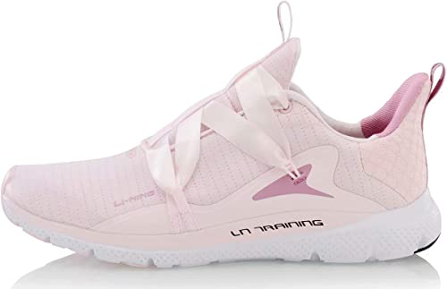 LI-NING Jing Hong - Zapatillas de Entrenamiento para Mujer, Ligeras, con Forro Flexible, Transpirables, Rosa (Rosado), 36 EU: Amazon.es: Zapatos y complementos