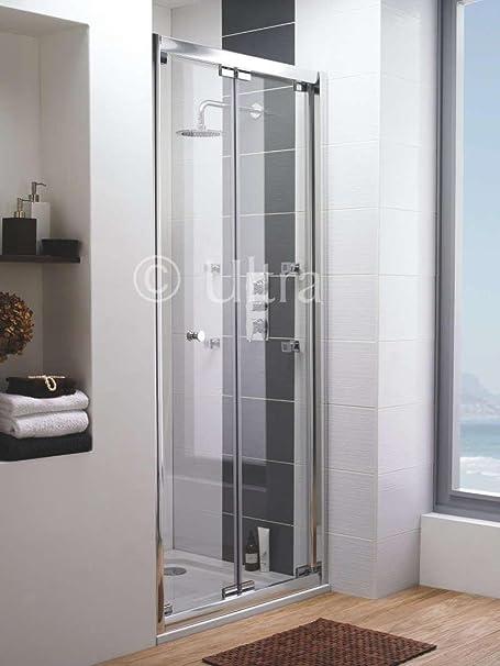 Home Of Ultra Roma Frameless Bi Fold Shower Door 1000mm Rombf100