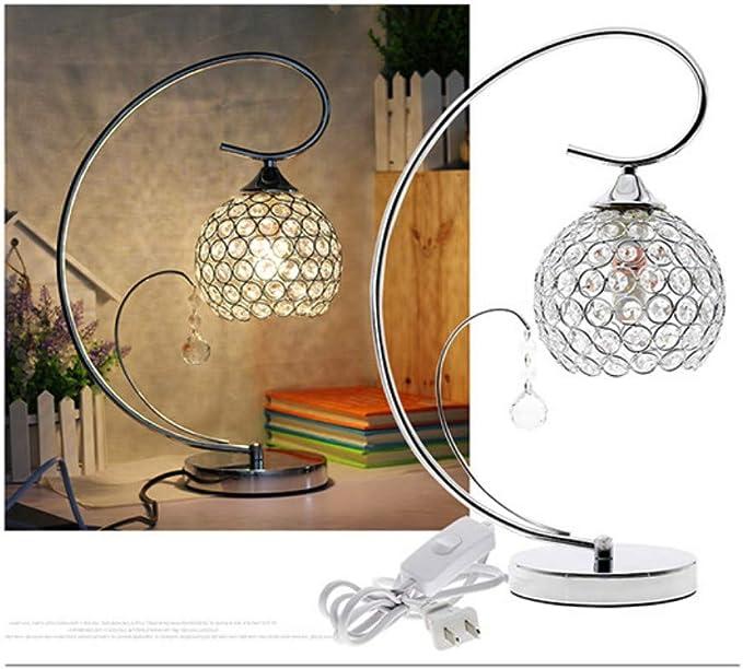 Lámpara de mesa Lámpara de mesa de cristal moderno Al lado de la ...