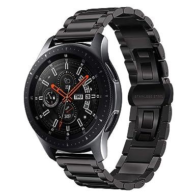 MroTech Correa Compatible para Gear S3 Frontier Classic 22mm Acero Inoxidable Pulseras de Repuesto para Galaxy Watch 46mm,Pebble Time,Huawei 2 ...