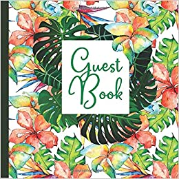 Guest Book Hawaii Party Includes Gift Tracker And