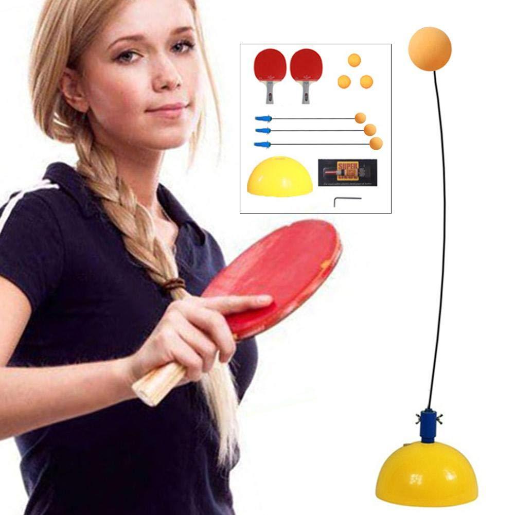 KidsTable Tennis Trainer Single Practice Ping Pong Training Tools Elastic Flexible Shaft Self-Training Artifact Toy