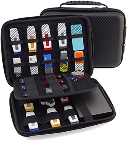 GuanHe funyoung USB de memoria stick Organizador Bolsa Case Organizador para memorias USB SD Tarjeta de memoria móvil Accesorios Colección: Amazon.es: Electrónica