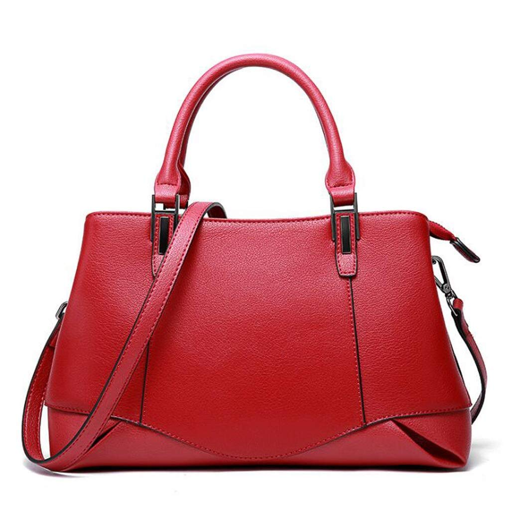 Damen Umhängetasche PU Leder Leder Leder Crossbody Tasche, Mode Handtasche Schultertasche Leder Tote 32  13  18cm (12.60  5.2  7.08 Zoll) (Farbe   rot, größe   One Größe) B07KT2R9VR Daypacks Auktion f159c7